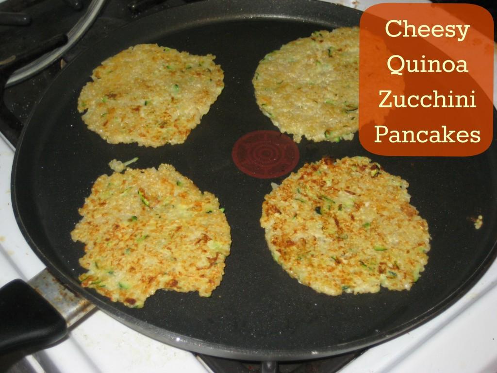 cheesy quinoa zucchini pancake
