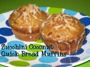 zucchini coconut quick bread muffins