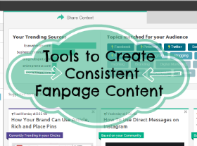 how to create consistent fanpage content