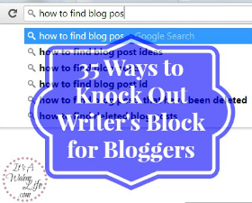 overcome writer's block. 35 ideas to blog about!