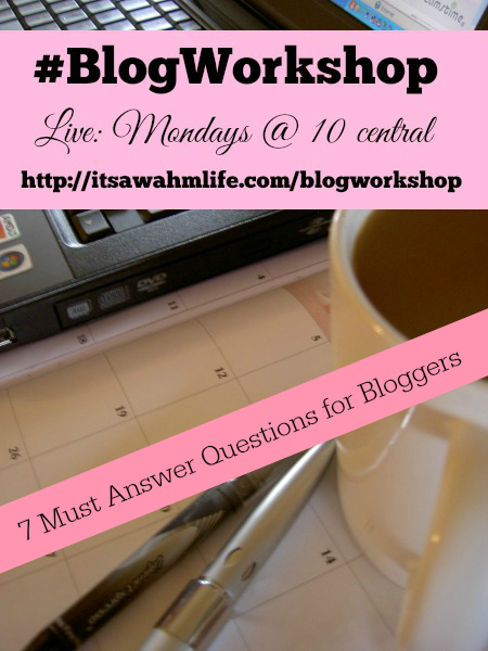 #blogworkshop 7 questions you must answer before writing your next blog post