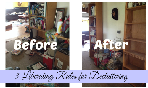 liberating rules for decluttering