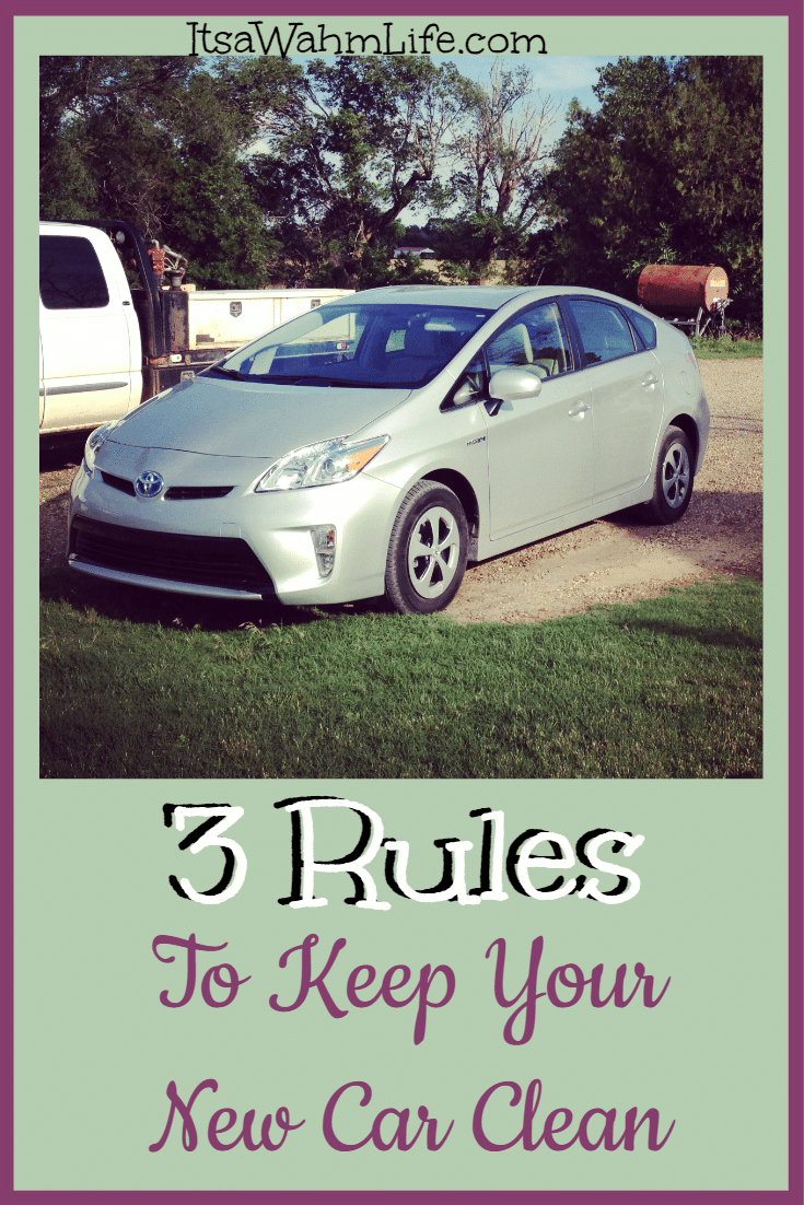 3 rules to keep your new car clean its a wahm life How to keep your car exterior clean