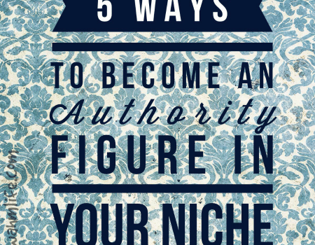 be an authority figure in your niche
