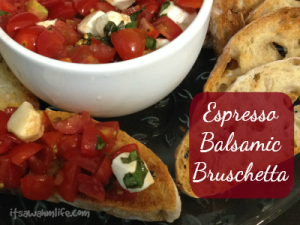 espresso balsamic bruschetta