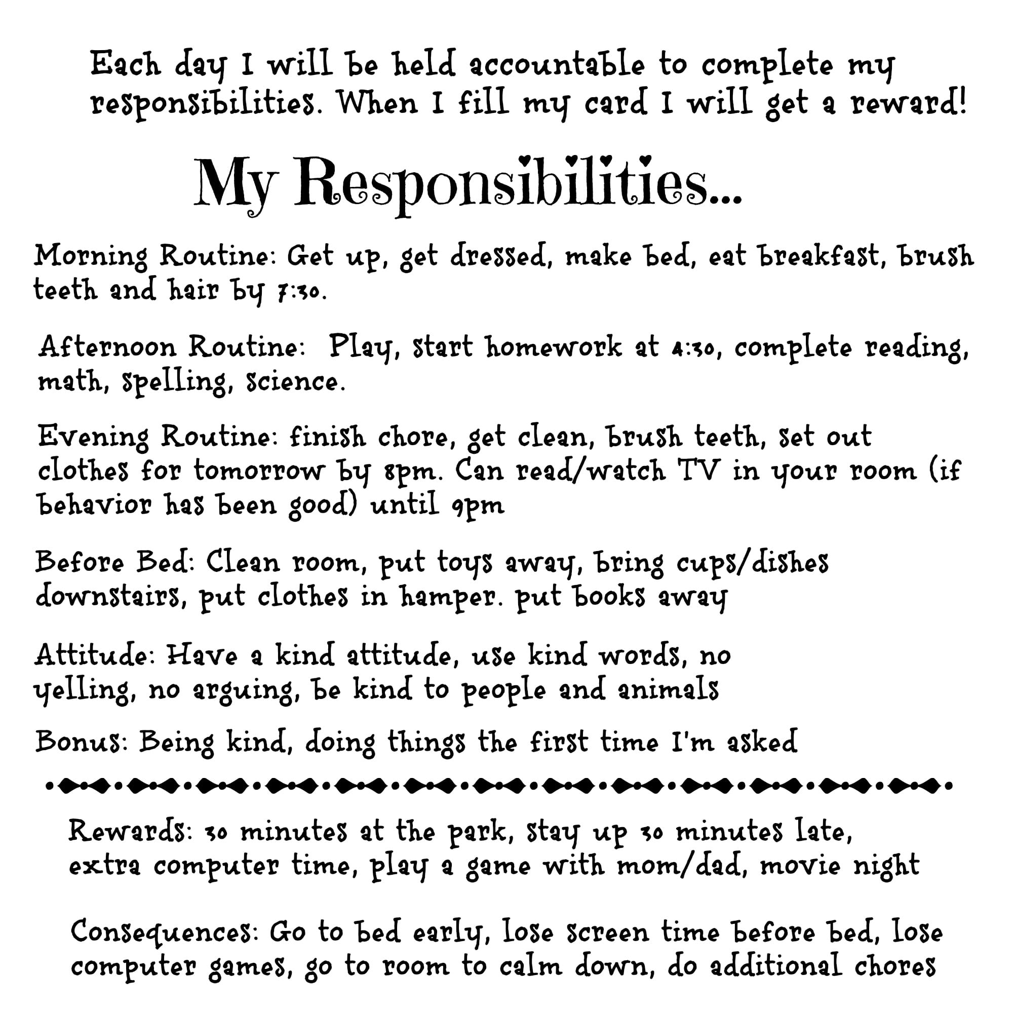 accountability responsibility and reasonable expectations of a relationship