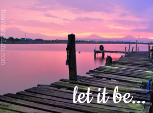 What if, instead of let it go, we just let it be instead? ItsaWahmLife.com