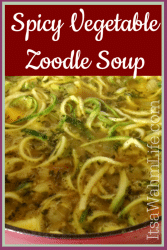 Spicy Vegetable Zoodle Soup www.ItsaWahmLife.com