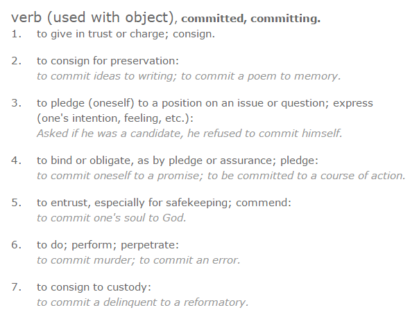 definitions of committed