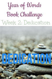 Year of words book challenge week 2 dedication ItsaWahmLife.com