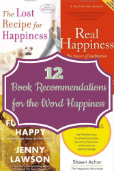 12 book recommendations for the word happiness... ItsaWahmLife.com #yearofwords #bookchallenge