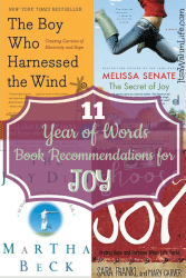 11 Year of Words book recommendations for the word Joy ItsaWahmLife.com