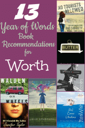 13 Year of Words Book Club Recommendations for the word Worth ItsaWahmLife.com