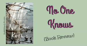 No One Knows Book Review ItsaWahmLife.com