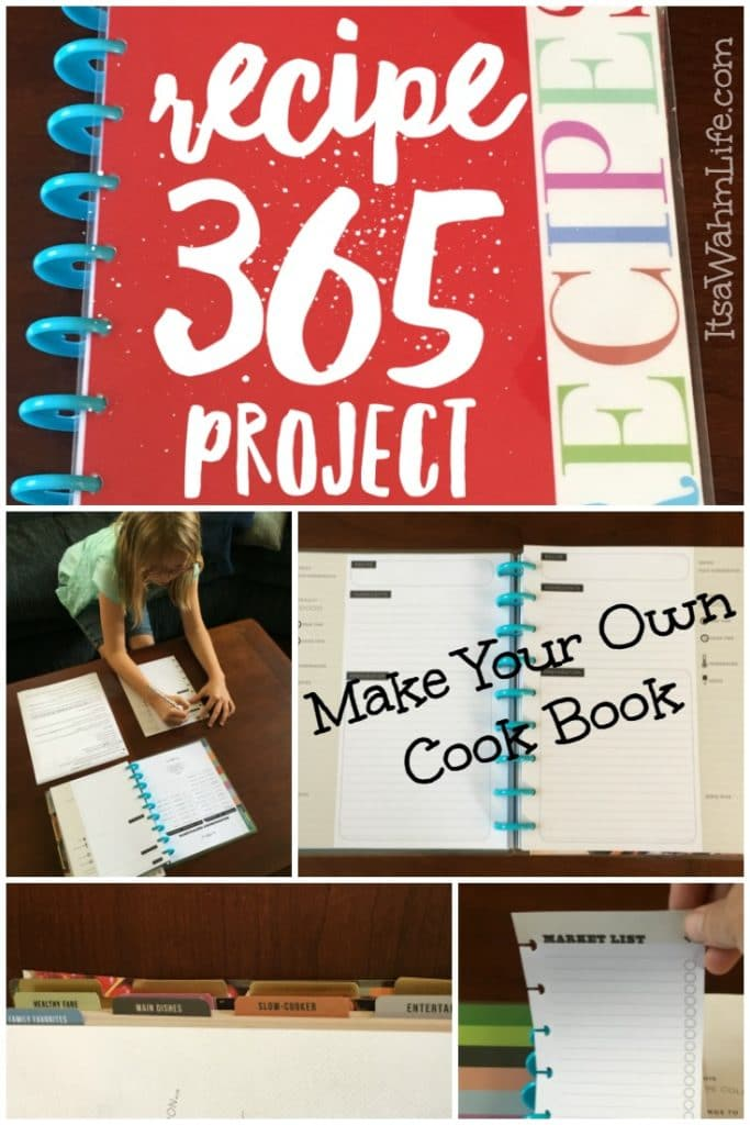 Make Your Own Cookbook {Recipe 365 Project} ItsaWahmLife.com