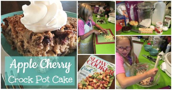 apple cherry crock pot cake recipe ItsaWahmLife.com