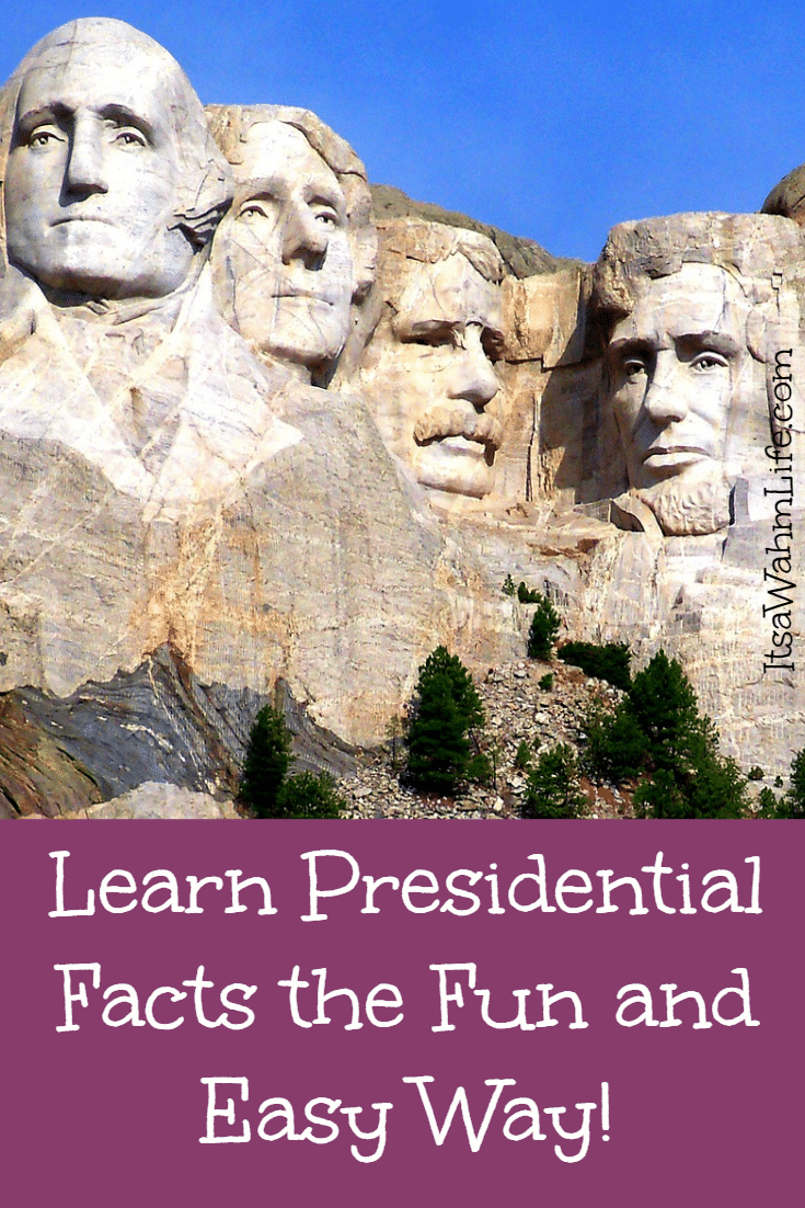 Learn presidential facts the easy way ~ ItsaWahmLife.com